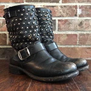 Frye | Jenna Disc Moto Boot | Size 8